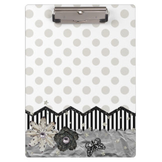 Clip Board, Black Stripey Clipboard