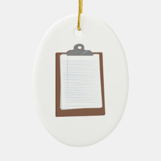 Clip Board Ceramic Ornament