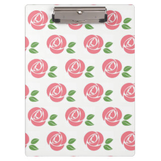 Clip Board with Roses Clipboards