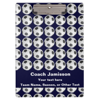 Clipboard Blue with Soccer Ball Pattern for Coach