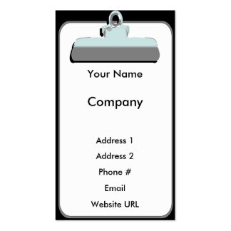 Clipboard-Business Pack Of Standard Business Cards