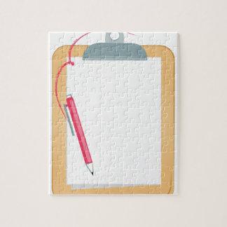 Clipboard & Pencil Puzzle