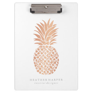 Clipboard - Rose Gold Pineapple