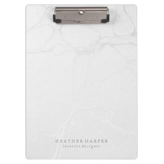 Clipboard - Silver Marble