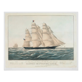 """Clipper ship """"Flying Cloud"""" (0397A) Poster"""