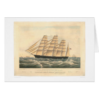 "Clipper ship ""Great Republic"" (0398A) Greeting Card"
