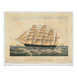 "Clipper ship ""Great Republic"" (0398A) Poster"