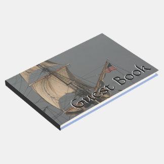 Clipper Ship Man of War Boat Sails Guest Book