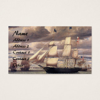 Clipper Ship Ocean Harbor Sailing Business Cards