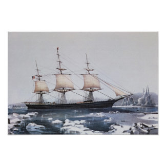 Clipper Ship Red Jacket Poster