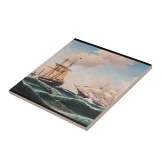 Clipper Ship War Seas Battle Ocean Tile