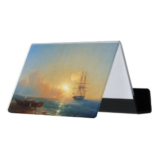 Clipper Ships Ocean Sailing Business Card Holder