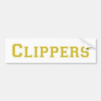 Clippers square logo in gold bumper stickers