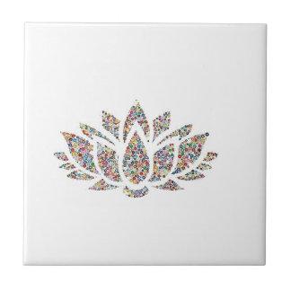 Clittered Bright Flower Tile