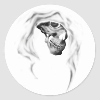 Cloaked Reaper Classic Round Sticker