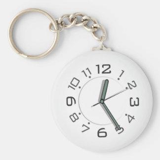 """Clock 2.25"""" Basic Button Keychain"""