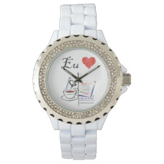 Clock 3 Love Coffee with Poetry Wrist Watches