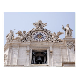 Clock and Bell, Vatican City, Rome, Italy Postcard