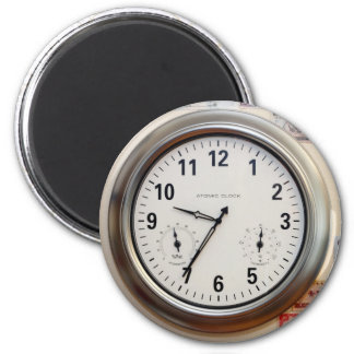 Clock and Currency Fridge Magnet