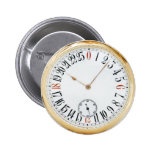 Clock Antique Pocket Watch 6 Cm Round Badge