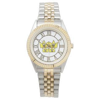 Clock Bracelet in Two Tones - Gay Family Watch