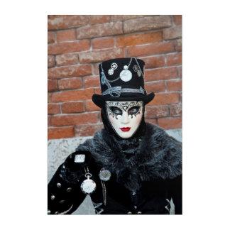 Clock Carnival Costume, Venice Acrylic Print