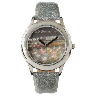 "Clock ""Chuches in jars "" Watch"