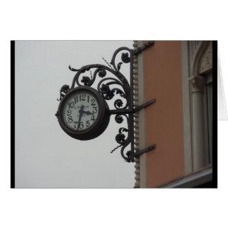 Clock, Como, Italy Card