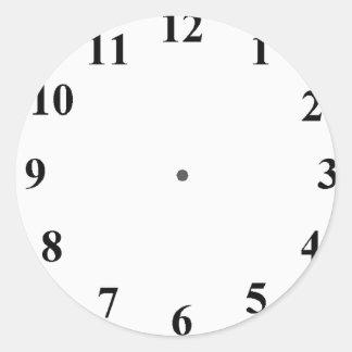 Clock Face Round Sticker