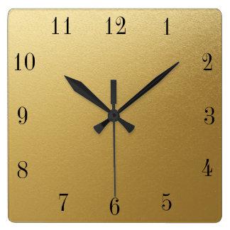 Clock Face Template Industrial Roman Font Golden