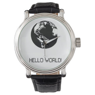 Clock freak Hello World Watch