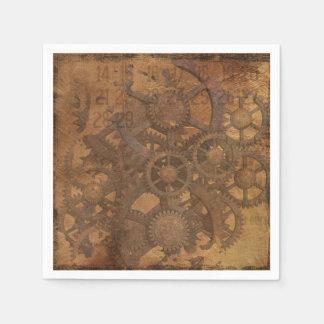Clock Gears Steampunk Art Disposable Napkin