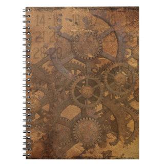 Clock Gears Steampunk Art Spiral Notebook