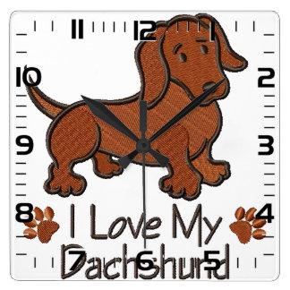 "Clock ""I love my dachshund """