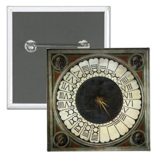 Clock in the Duomo by Paolo Uccello 15 Cm Square Badge