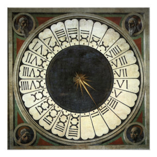 Clock in the Duomo by Uccello, Renaissance Art Personalized Invitation