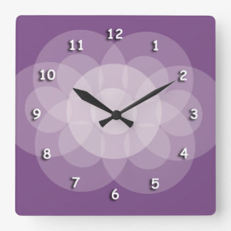 Clock - Intersecting Circles in Purple