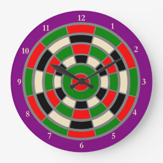 Clock: Large. Dartboard Design Large Clock