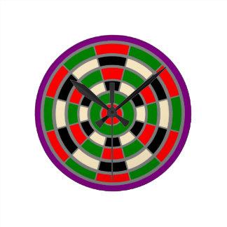 Clock: Large. Dartboard Design. Not numbered Round Clock