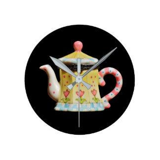 clock, medium,  round, image, teapot, design round clock