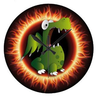 Clock of wall dragoon