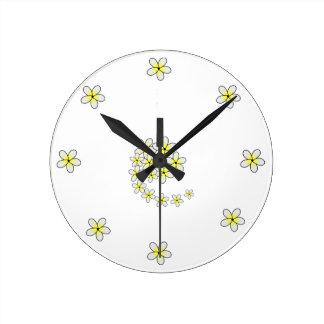 Clock of White Jasmine