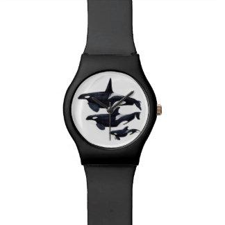 Clock orca wristwatch