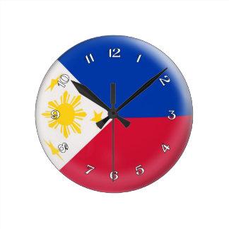 Clock Philippines Philippino flag Bubble Design