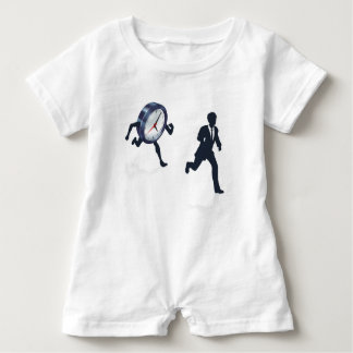 Clock Race Business Man Concept Baby Bodysuit