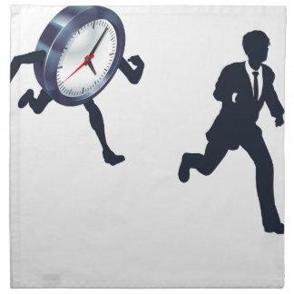 Clock Race Business Man Concept Napkin