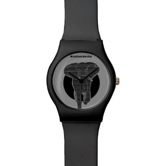 Clock Striped Elephant Wristwatch