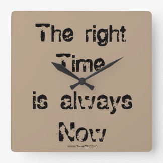 """Clock """"The right time """""""