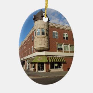Clock Tower, Downtown Paso Robles, California Ceramic Ornament