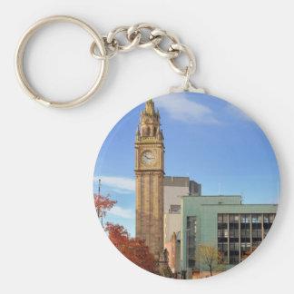 Clock tower in Belfast Key Ring